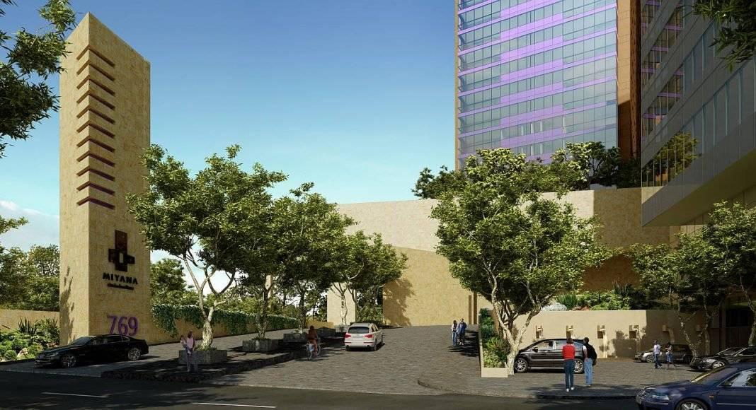 Acceso a las Viviendas del Desarrollo Residencial Miyana : Render © Legorreta + Legorreta (L+L)