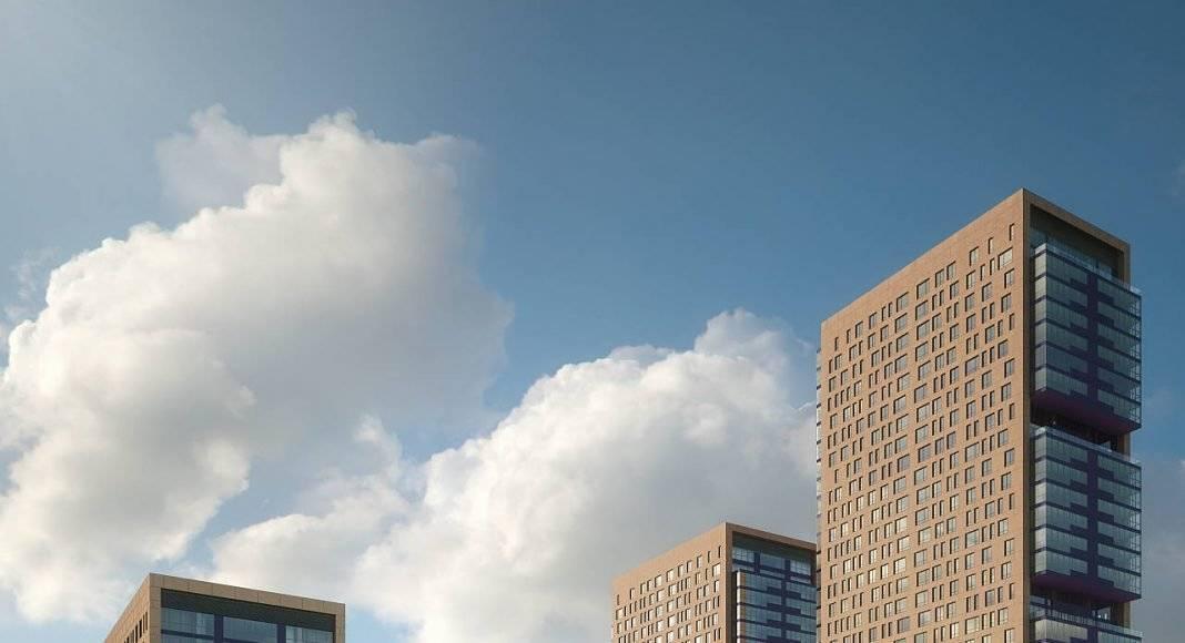 Vista Aérea Vertical del Desarrollo Residencial Miyana : Render © Legorreta + Legorreta (L+L)
