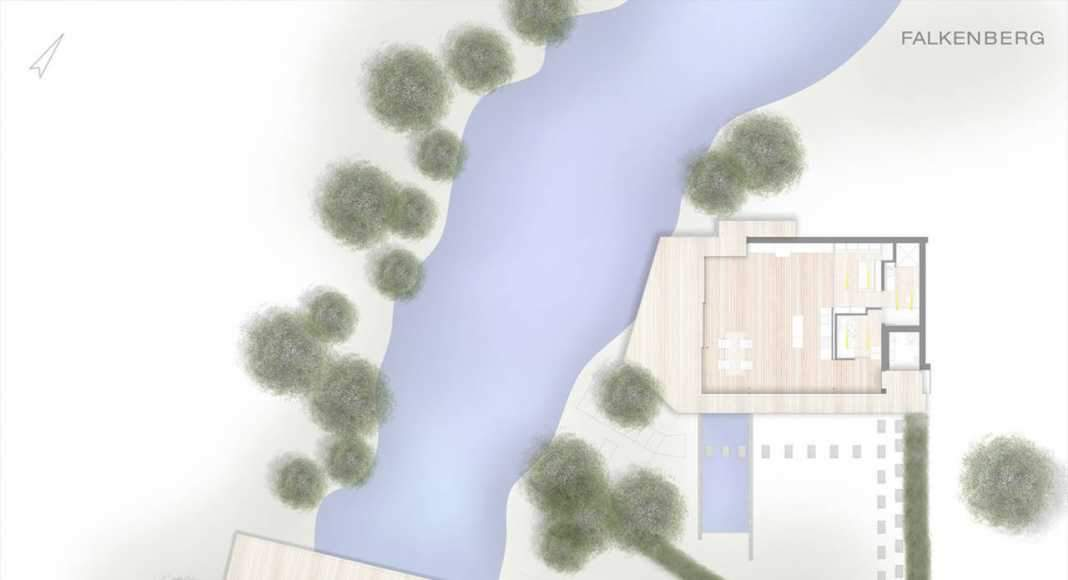 Plan of House Rheder II : Photo credit © Falkenberg innenarchitektur