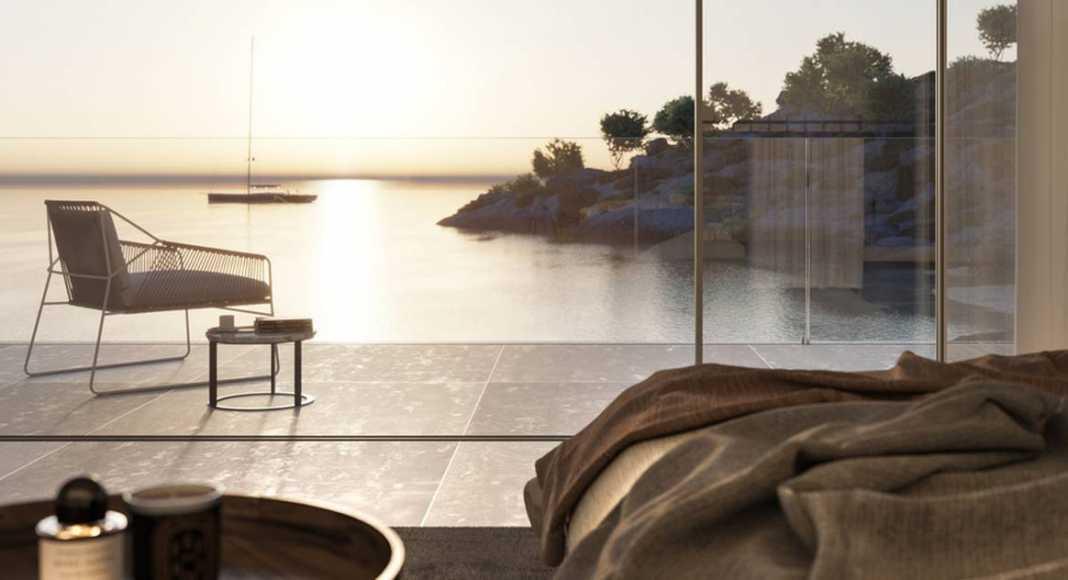 Vista de la puesta del sol desde la terraza de la recámara : Photo credit © The Boundary