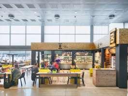 Cafetería Breadway en la T2 del Aeropuerto de Barcelona diseñada por EME Concepts : Fotografía © José Hevia