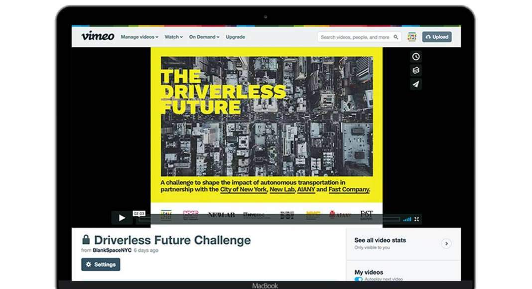 Blank Space Driverless Future Challenge Video : Photo © Blank Space