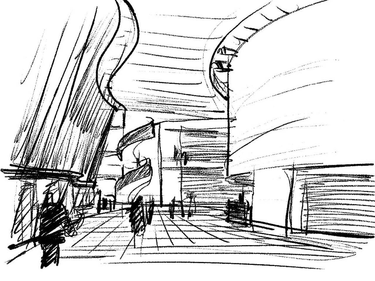 Centro Cultural Katuaq diseñado por Schmidt Hammer Lassen : Sketch © Schmidt Hammer Lassen Architects