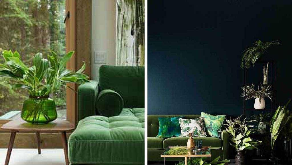 Interiores que respiran la armonía y la paz del tono Greenery. Desde elementos a nivel detalle como grandes piezas, el color es el gran protagonista : Fotografía cortesía de © MTD