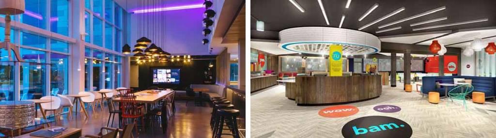 Moxy Hotels. La nueva imagen de la marca de Marriot International, se dirige a los Millennials. Bare Bones Hotels. Cadena Hotelera de media estancia diseñada para viajeros con bajo presupuesto : Fotografía cortesía de © MTD