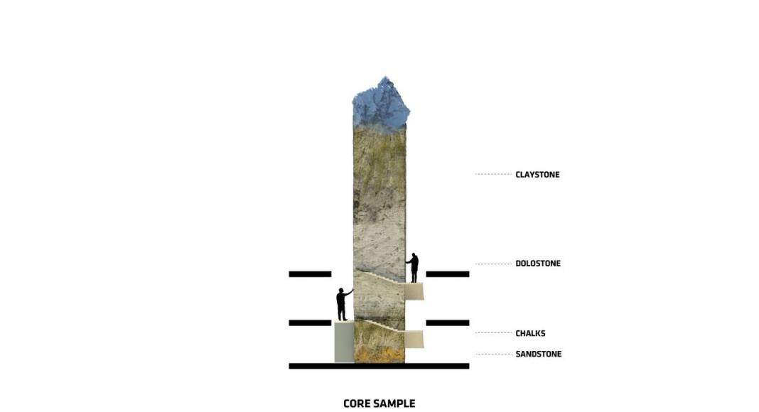 San Pellegrino Flagship Factory Core Sample : Image © BIG