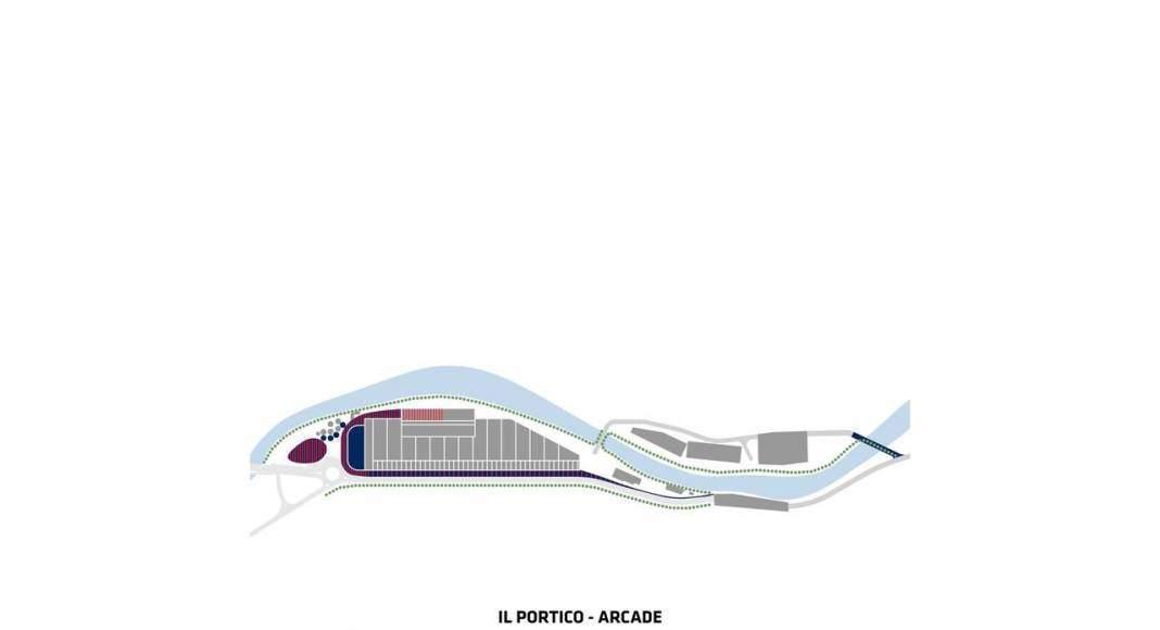 San Pellegrino Flagship Factory Portico : Image © BIG