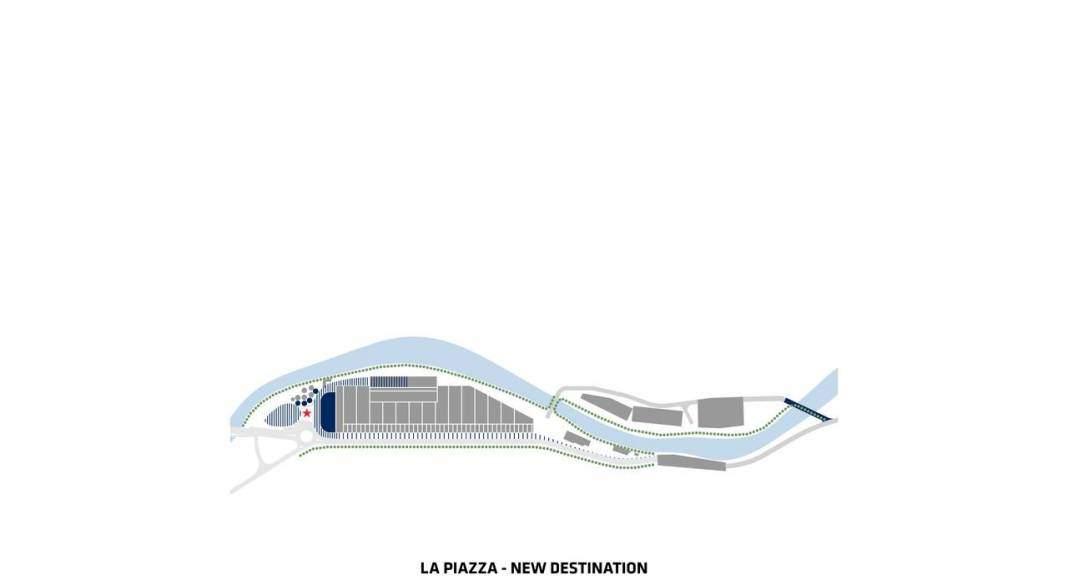 San Pellegrino Flagship Factory La Piazza : Image © BIG