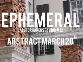 Convocatoria para el Número #12 EPHEMERAL de STUDIO Magazine : Fotografía © Francesco Rosadini
