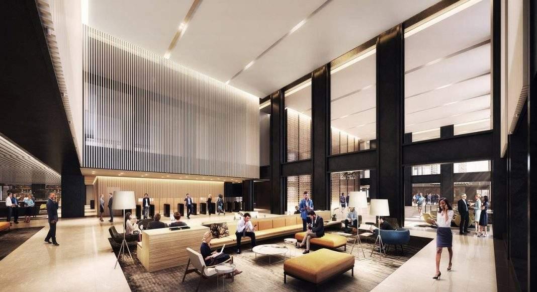 Willis Office Lobby del Nuevo Diseño para la Remodelación de la Icónica Willis Tower : Render © Gensler, courtesy of © Willis Tower