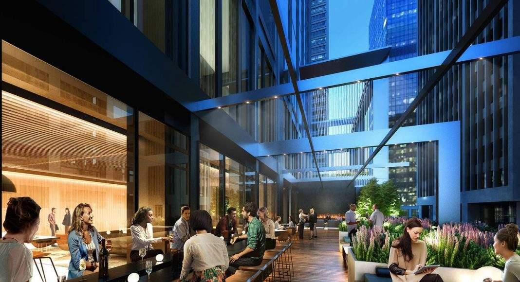 Willis Office Lobby Bar del Nuevo Diseño para la Remodelación de la Icónica Willis Tower : Render © Gensler, courtesy of © Willis Tower