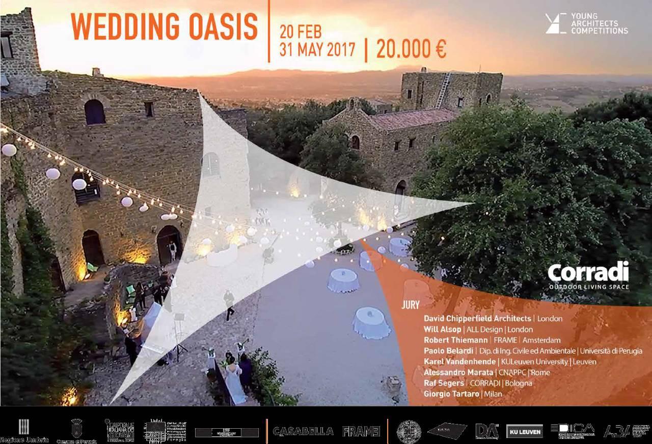 Concurso Wedding Oasis en el Castello di Rosciano, Italia : Cartel © YAC Competitions