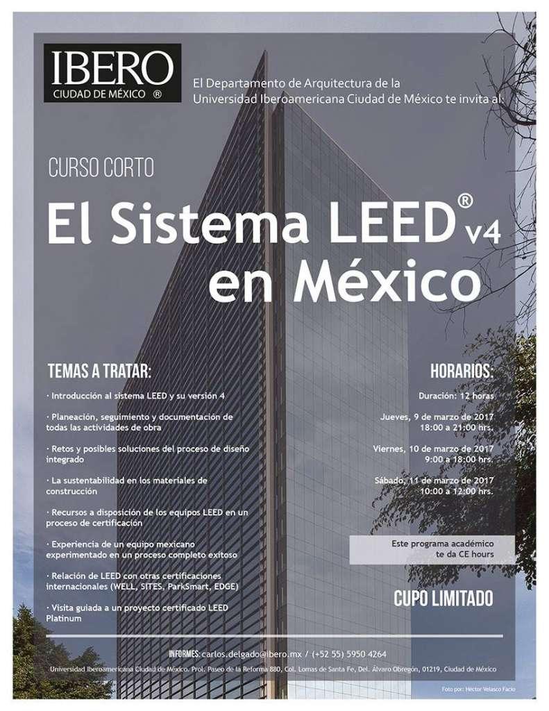 Curso Corto El Sistema LEED v4 en México : Fotografía © Héctor Velasco Facio, cortesía © ArqIBERO
