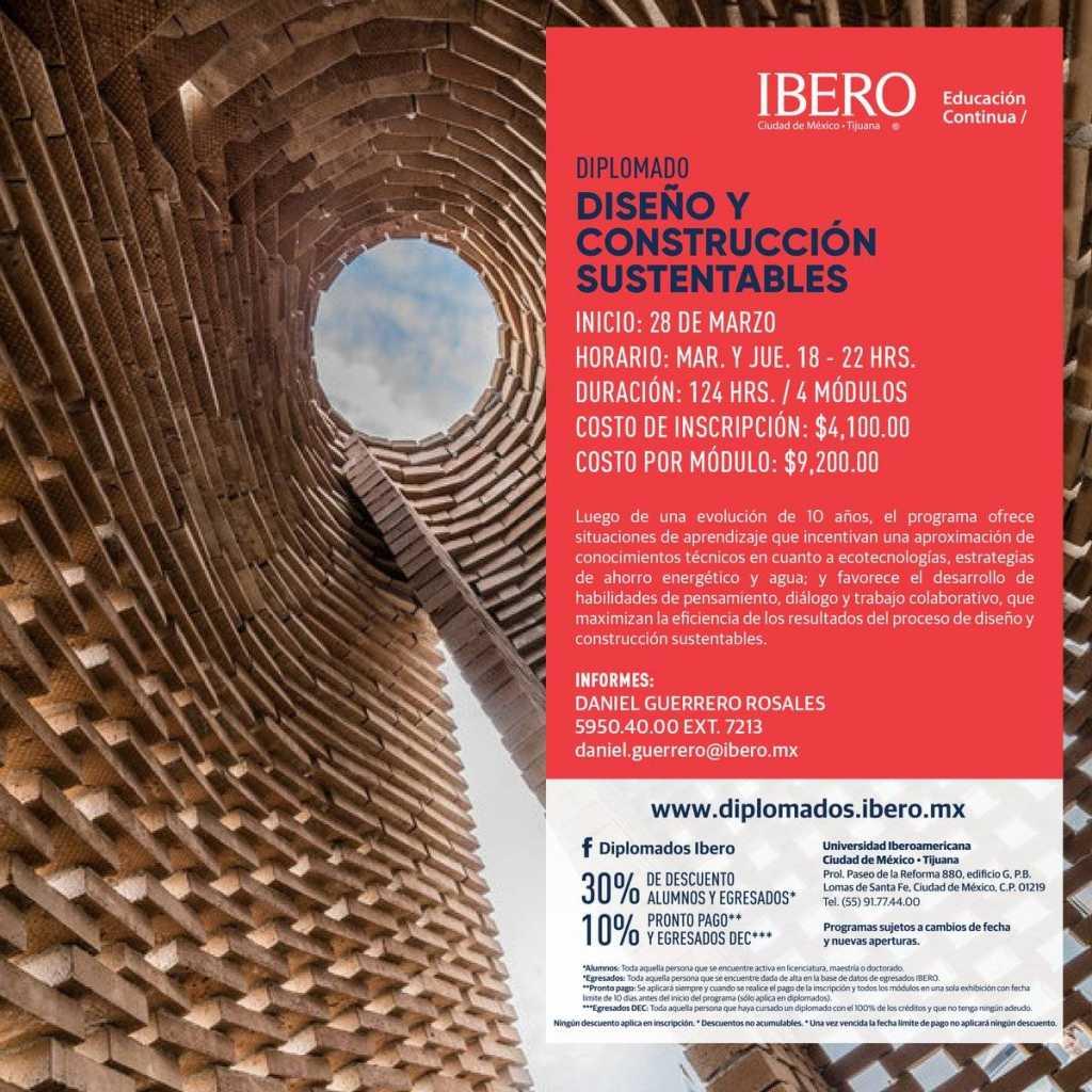 Diplomado en Diseño y Construcción Sustentables : Fotografía © Arq IBERO