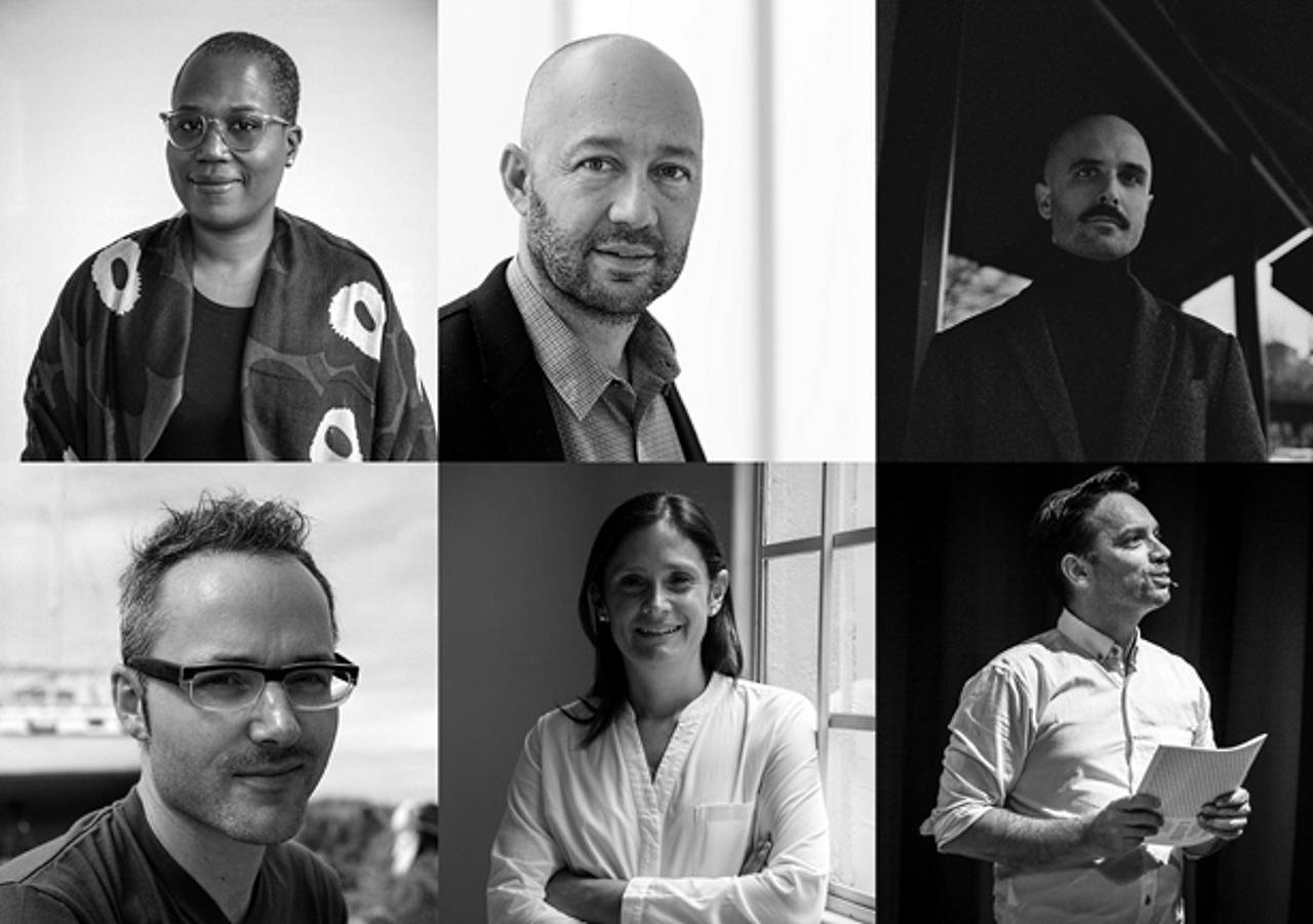 2017 Richard Rogers Fellows (top to bottom, left to right): Shantel Blakely, Jose Castillo, Namik Mackic, Maik Novotny, Saidee Springall, Dirk van den Heuvel : Photo © Harvard GSD
