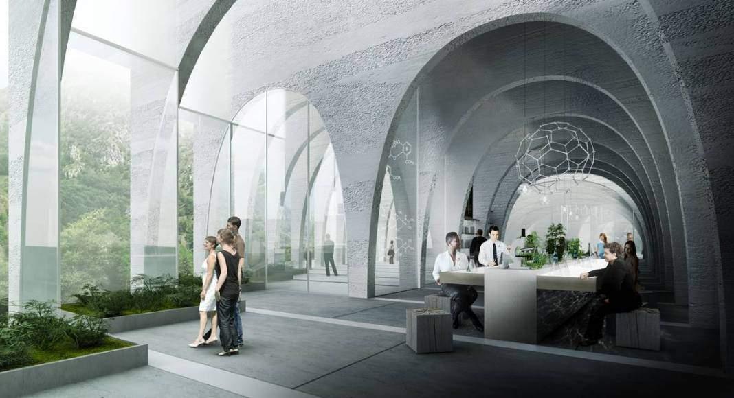 BIG gana el concurso internacional de diseño para la Emblemática Fábrica San Pellegrino : Image © BIG