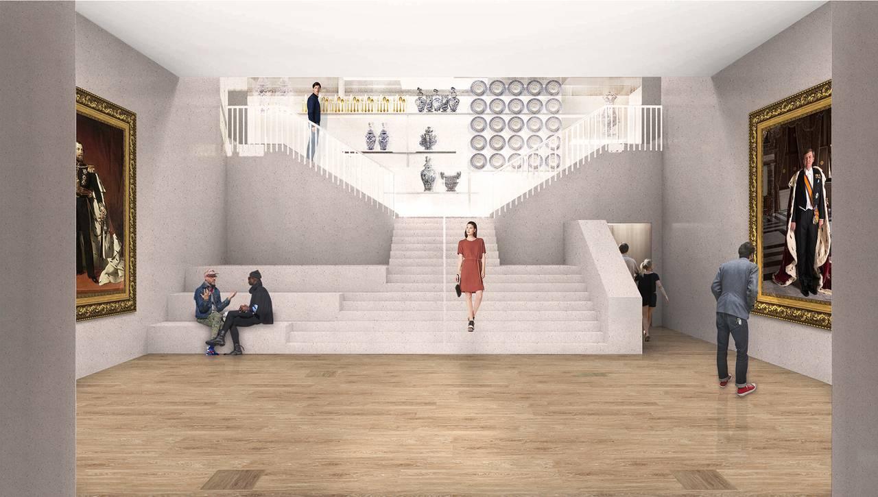 Renovation Museum Paleis Het Loo Huis van Orange by KAAN Architecten : Render © The Beauty & the Bit and © KAAN Architecten