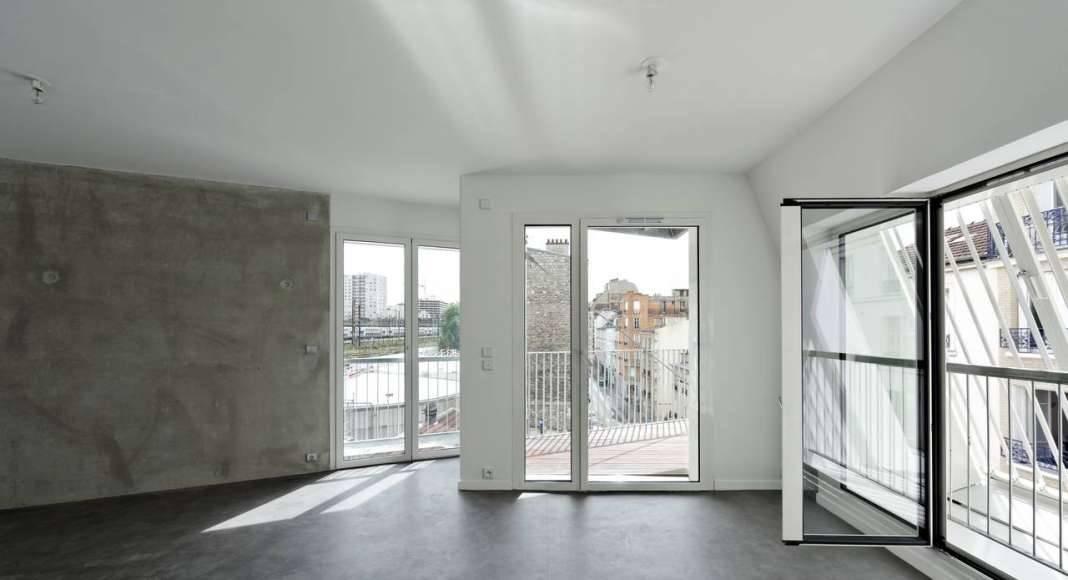 Apartamento del Desarrollo de 10 Viviendas en Castagnary diseñado por DFA : Photo © David Boureau