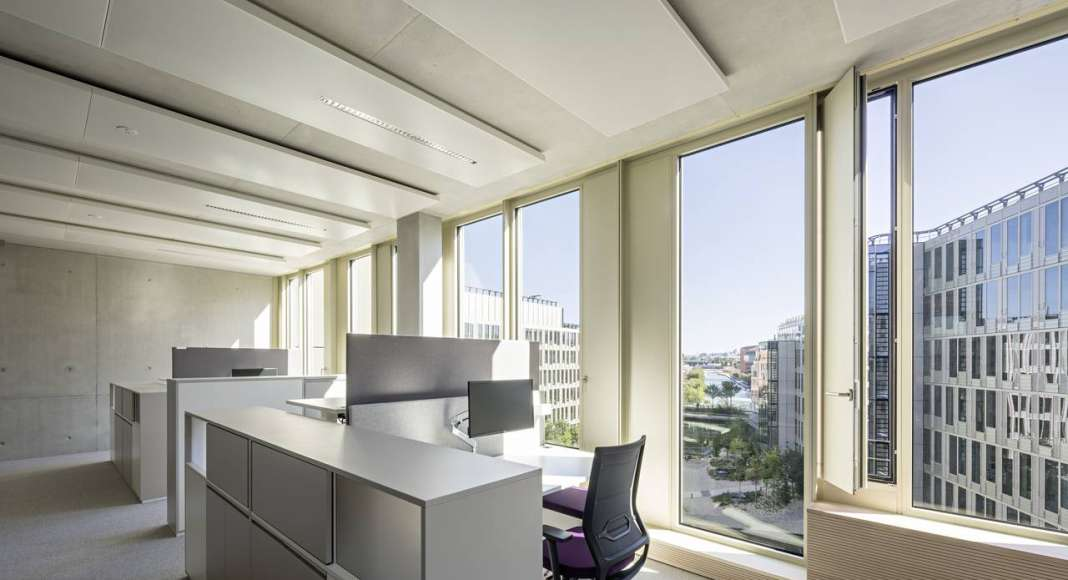 Veolia HQ Office View designed by DFA | Dietmar Feichtinger Architectes : Photo © Hertha Humaus
