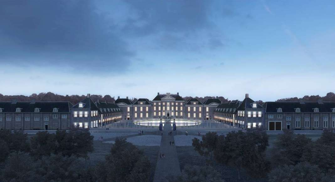 Renovation Museum Paleis Het Loo Night View by KAAN Architecten : Render © The Beauty & the Bit and © KAAN Architecten