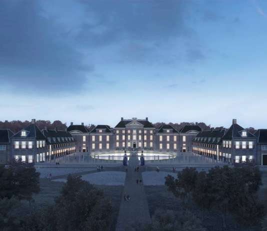 Renovation Museum Paleis Het Loo Night View by KAAN Architecten : Render © The Beauty & the Bit and © KAAN Architecten