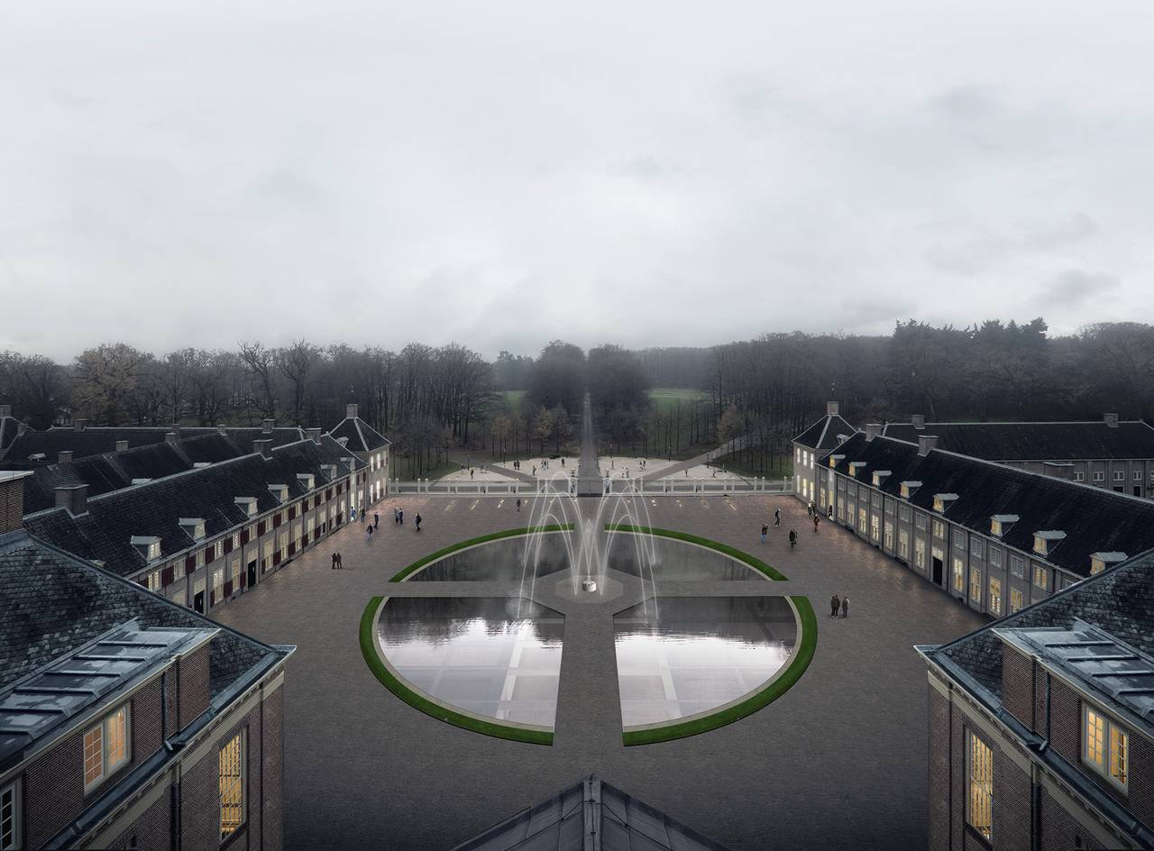 Renovation Museum Paleis Het Loo Bassecour View by KAAN Architecten : Render © The Beauty & the Bit and © KAAN Architecten