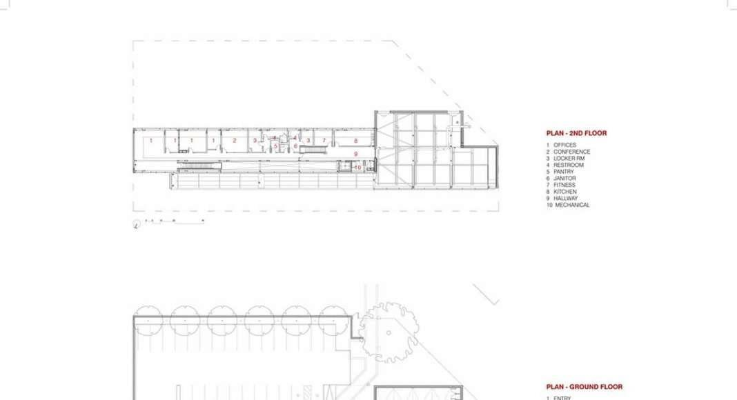 Plans, Second and First Floor : Photo credit © Dean/Wolf Architects