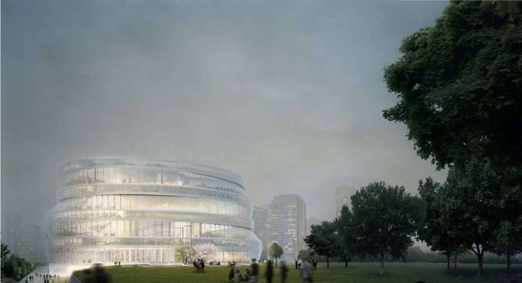 Shanghai Library East by nArchitects, Finalist 2017 (Unbuilt Institutional) : Photo credit courtesy of © nArchitects