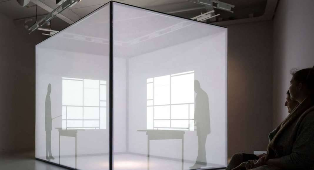 Silhouet of Mondrian, video installation New York : Photo credit © Mike Bink Photography