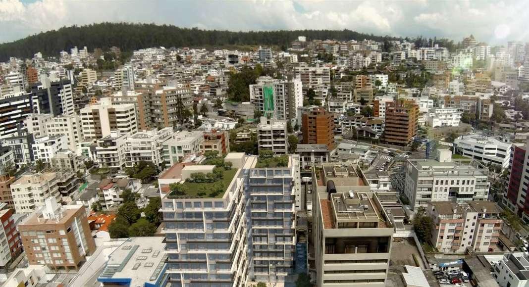 El edificio Atelier diseñado por Arquitectónica y Uribe & Schwarzkopf : Imágenes © Uribe & Schwarzkopf (YOO Quito, YOO Cumbaya, Atelier y Oh Residencias)