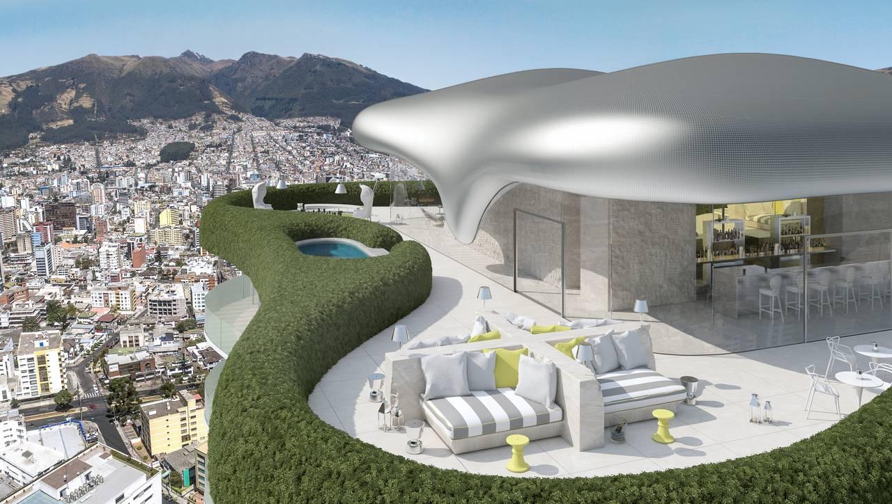 El edificio YOO Quito, una colaboración entre Tommy Schwarzkopf, cuenta con el sello de Philippe Starck y John Hitchcox : Imágenes © Uribe & Schwarzkopf (YOO Quito, YOO Cumbaya, Atelier y Oh Residencias)