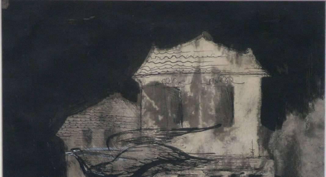 Leonora Carrington, En esta casa, 1957, gouache sobre papel, 45 x 31 cm : Fotografía © Leonora Carrington