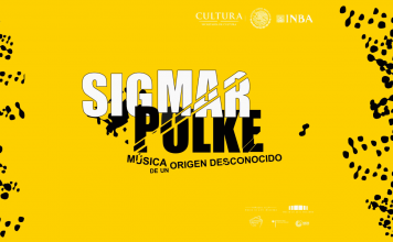 Sigmar Polke. Música de un origen desconocido : Cartel cortesía del © Museo de Arte Moderno