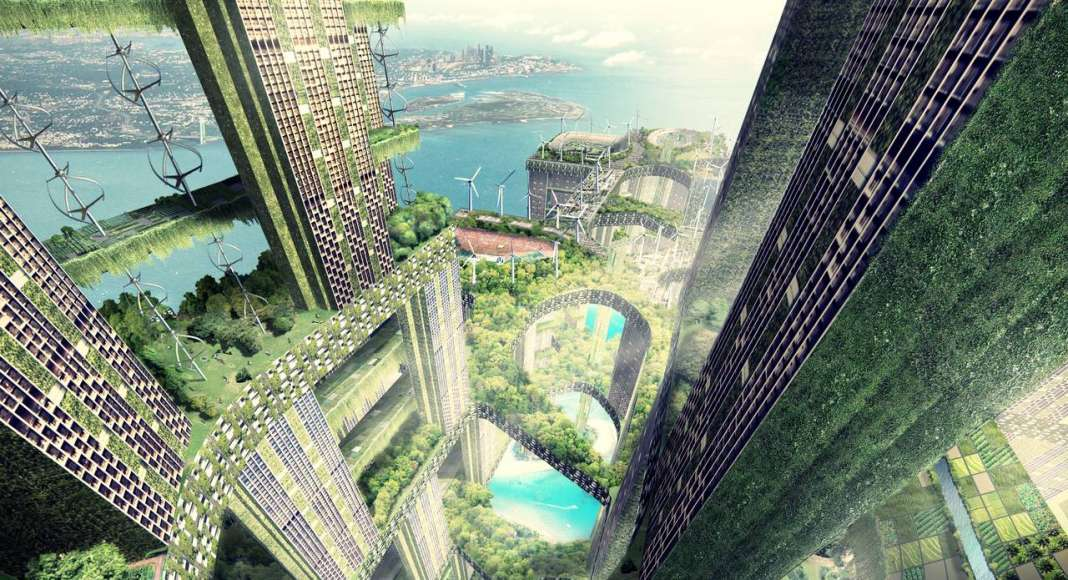 Permeable Lattice City, Singapore (unbuilt) : Photo credit © WOHA