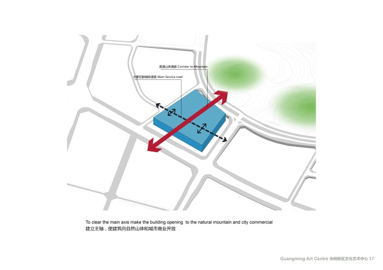Centro Cultural y de las Artes de Guangming Plan 02 : Drawing © RMJM Shenzhen
