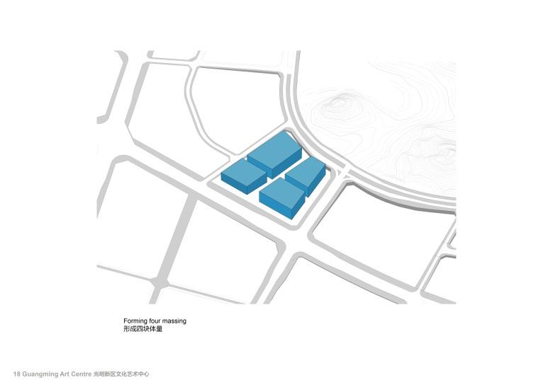 Centro Cultural y de las Artes de Guangming Plan 03 : Drawing © RMJM Shenzhen