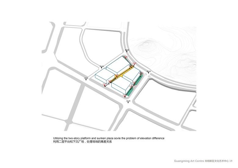 Centro Cultural y de las Artes de Guangming Plan 04 : Drawing © RMJM Shenzhen