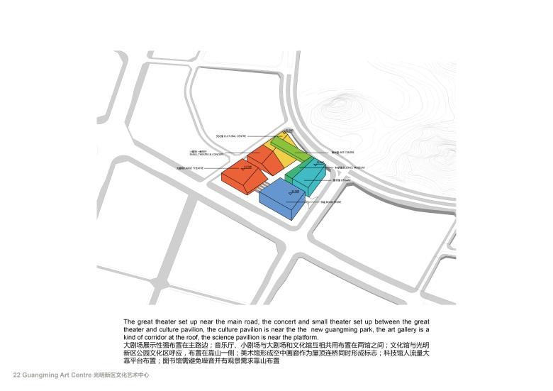 Centro Cultural y de las Artes de Guangming Plan 06 : Drawing © RMJM Shenzhen