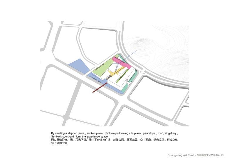 Centro Cultural y de las Artes de Guangming Plan 07 : Drawing © RMJM Shenzhen