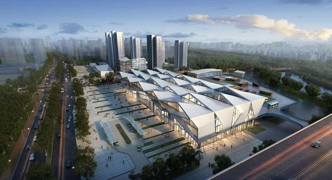 Estación Central de Autobuses de Dayawan diseñada por RMJM Shenzhen : Render © RMJM Shenzhen