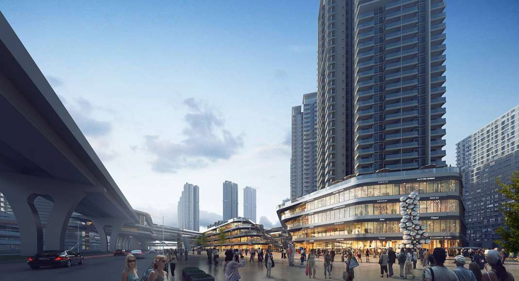 Shenzhen Metro Line 6 Development designed by RMJM : Render © RMJM Shenzhen