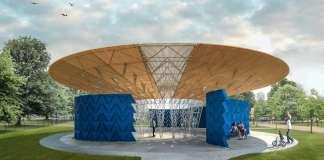 Serpentine Pavilion 2017, Designed by Francis Kéré, Design Render, Exterior : Render © Kéré Architecture