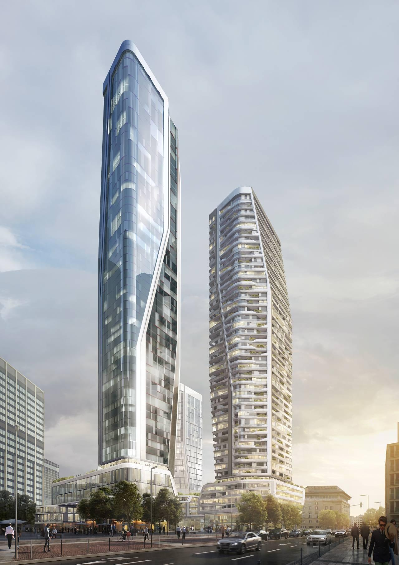 Redevelopment Deutsche Bank Areal, Frankfurt, Alemania, 2015 by UNStudio : Renders © UNStudio