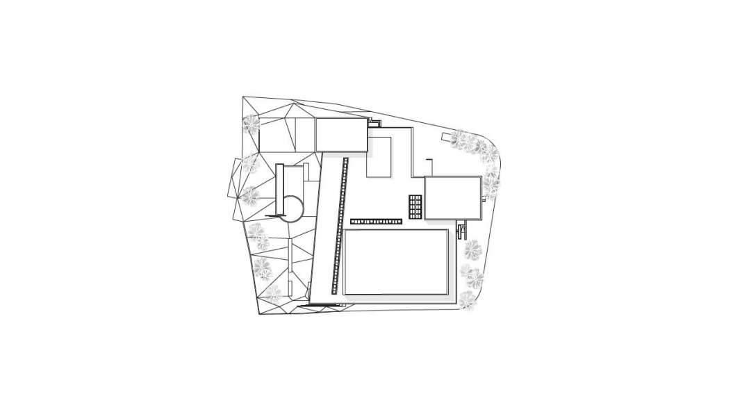 Planta de Conjunto 1:500 del Vendsyssel Theatre diseñado por Schmidt Hammer Lassen Architects : Drawing © Schmidt Hammer Lassen Architects