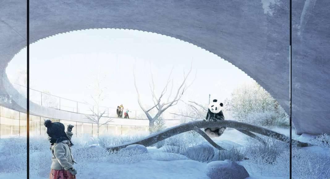 BIG Unveils Yin and Yang-Shaped Panda Habitat : Render © BIG