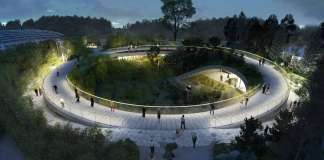 BIG Unveils Yin and Yang-Shaped Panda Habitat : Render © BIG