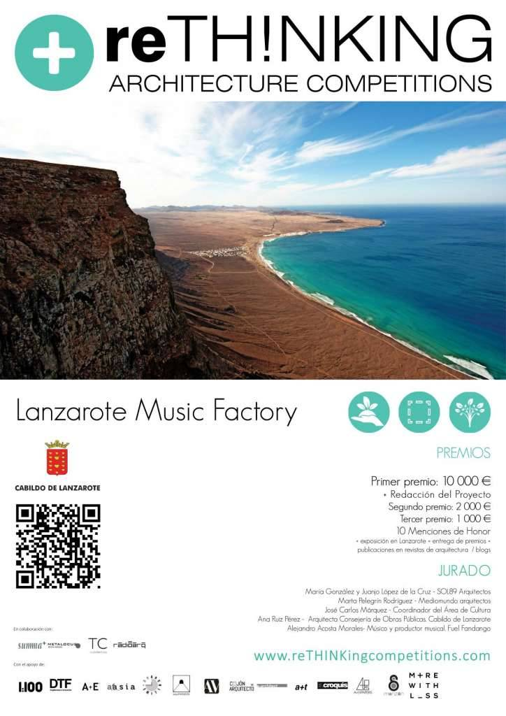 reTHINKing lanza el concurso Lanzarote Music Factory : Poster © reTHINKing Competitions