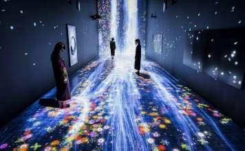 teamLab, 2017, Interactive Digital Installation, Sound: Hideaki Takahashi : Photo © teamLab