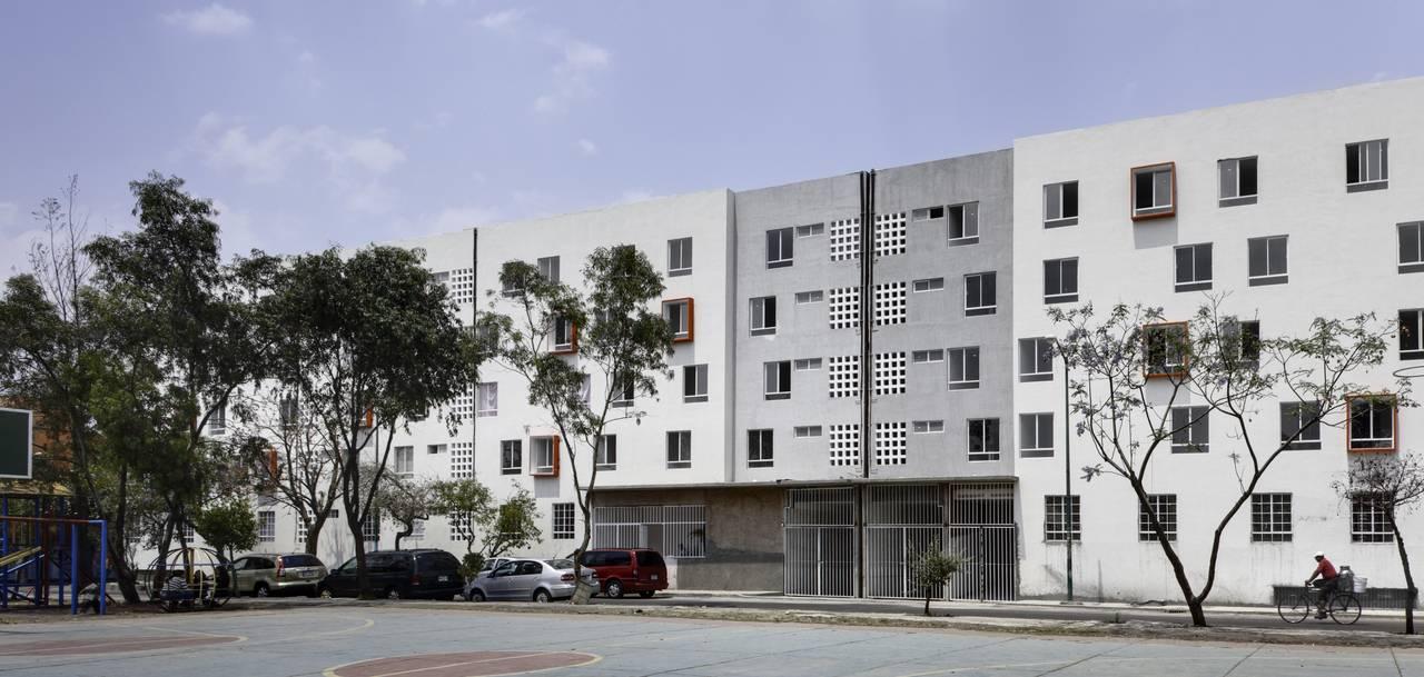 Proyecto de Vivienda Urbana IntegrARA Iztacalco diseñado por a | 911 : Fotografía © Rafael Gamo