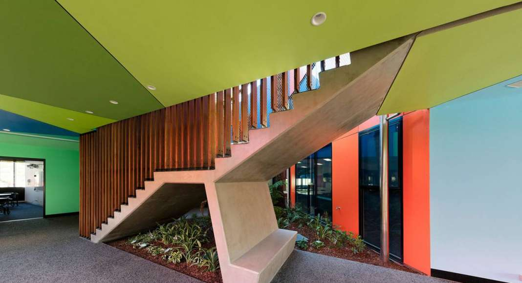 Ivanhoe Grammar Senior Years & Science Centre Main Staircase by McBride Charles Ryan : Photo credit © John Gollings